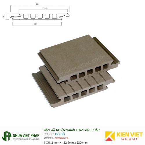 Sàn gỗ rỗng Việt Pháp SGR02-GI   24x122.5mm