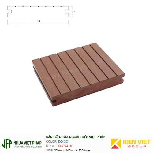 Sàn gỗ đặc Việt Pháp SGD03-DG   25x140mm