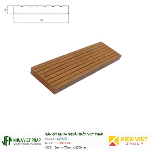 Sàn gỗ ban công thanh đa năng Việt Pháp TDN01-DG | 15x70mm