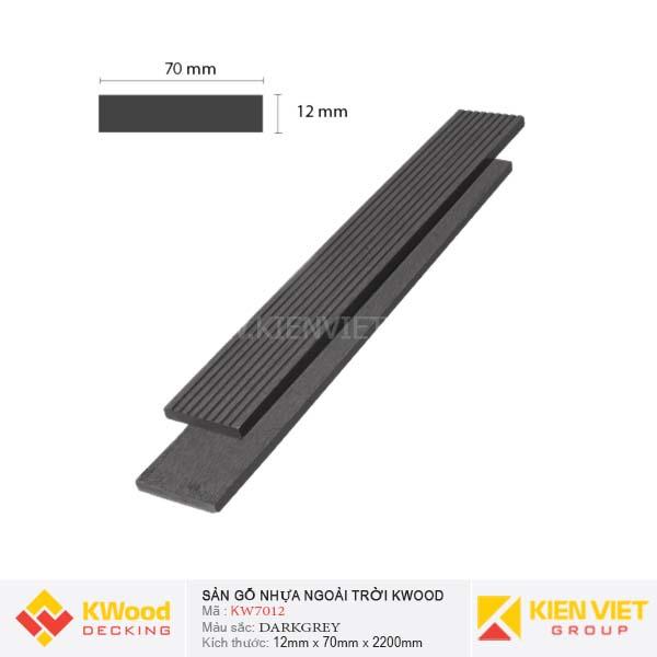 Sàn gỗ ban công ngoài trời Kwood KW70x12 Dark Grey