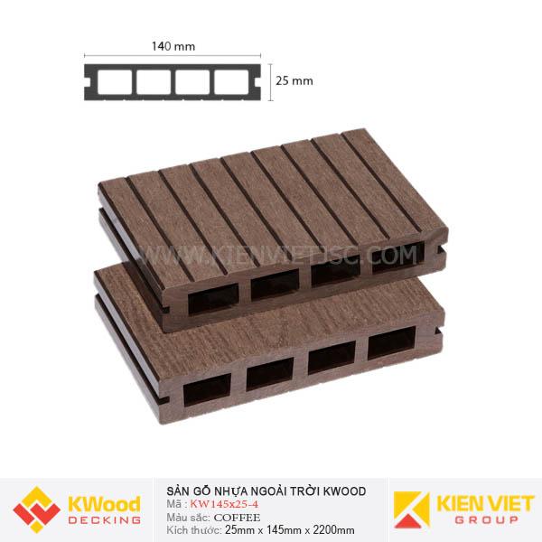 Sàn gỗ bể bơi ngoài trời Kwood KW140x25-4 Coffee