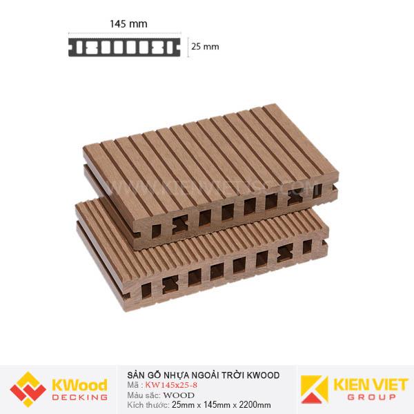 Sàn gỗ bể bơi ngoài trời Kwood KW145x25 Wood