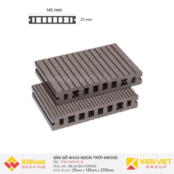 Sàn gỗ bể bơi ngoài trời Kwood KW145x25 Black Coffee