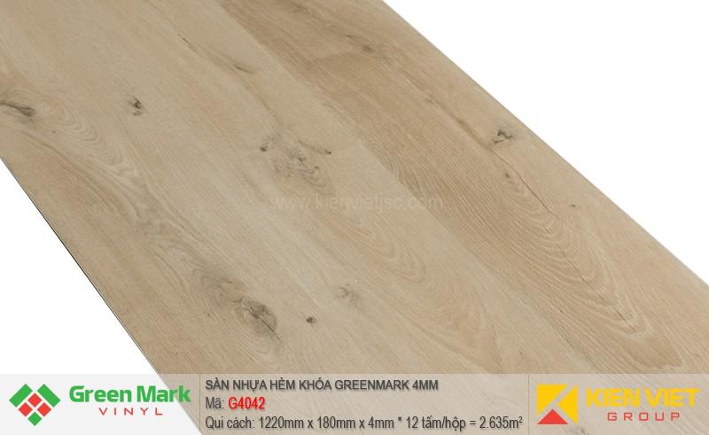 Sàn nhựa hèm khóa Green Mark G4042   4mm