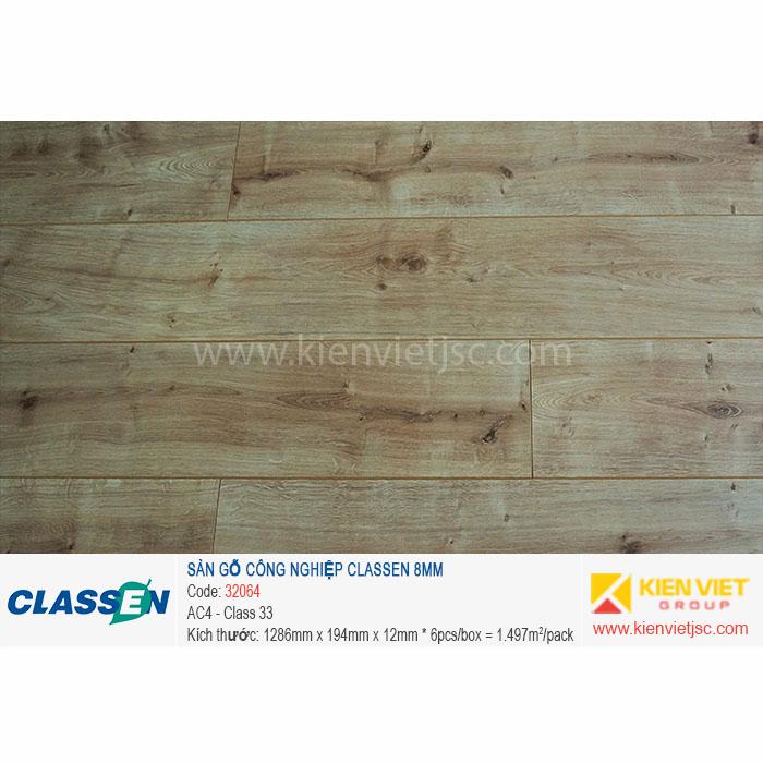 Sàn gỗ Classen AC4 32064 | 8mm