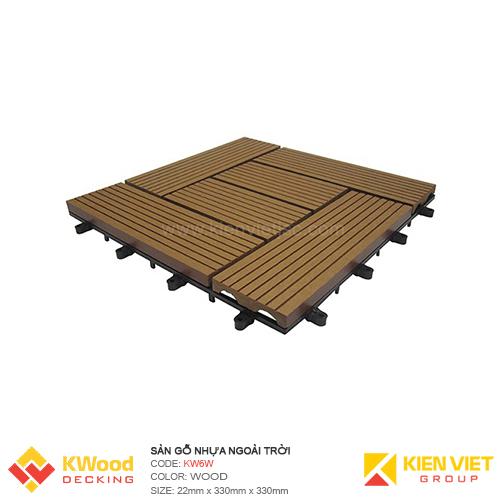 Vỉ gỗ nhựa hình bán nguyệt KV6W - Wood