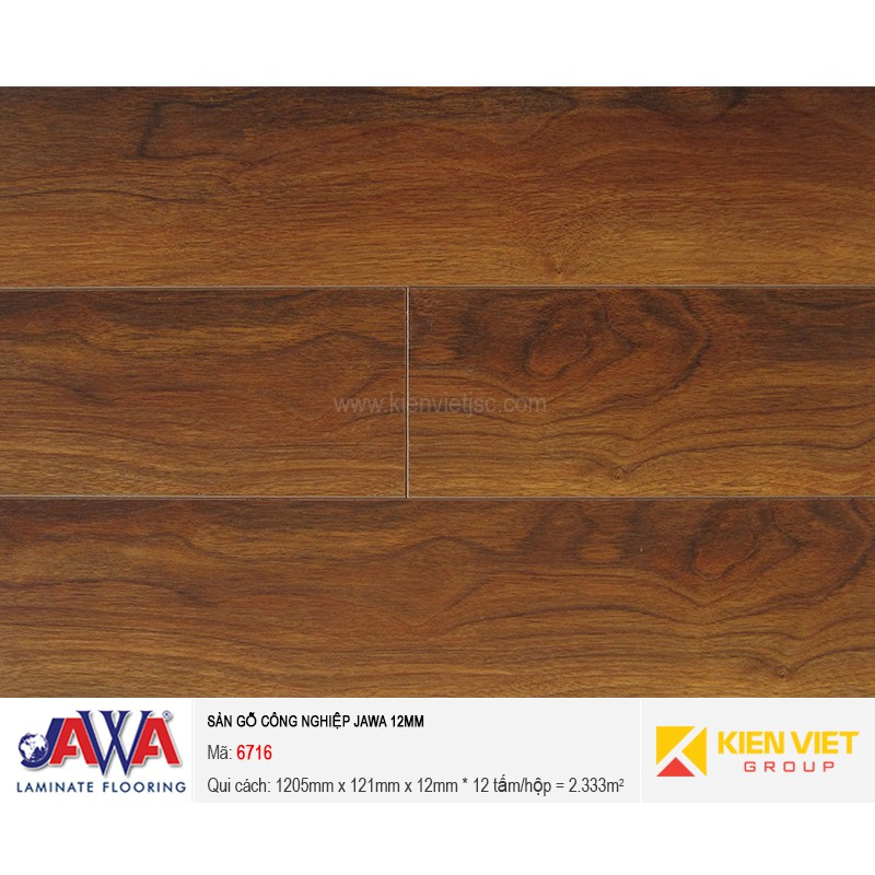 Sàn gỗ công nghiệp JAWA 6716 | 12mm