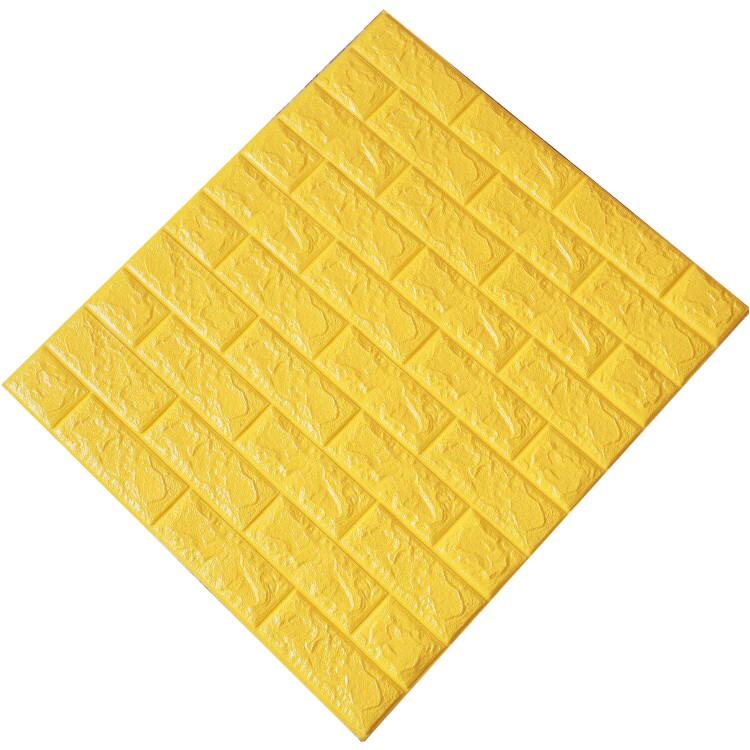 Tấm ốp tường xốp 3D vàng tươi | VT13