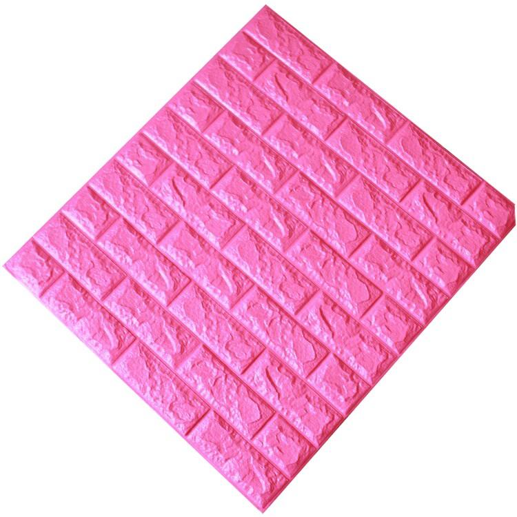 Tấm ốp tường xốp 3D hồng đậm   HĐ10