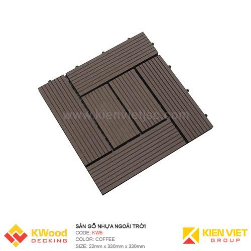 Vỉ gỗ nhựa 30x30 Coffee 6 nan