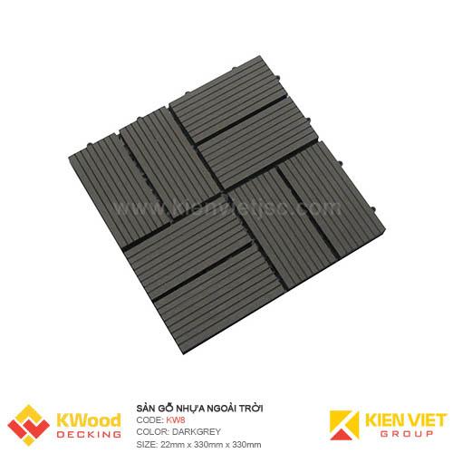 Vỉ gỗ nhựa 30x30 Dark Grey 8 nan