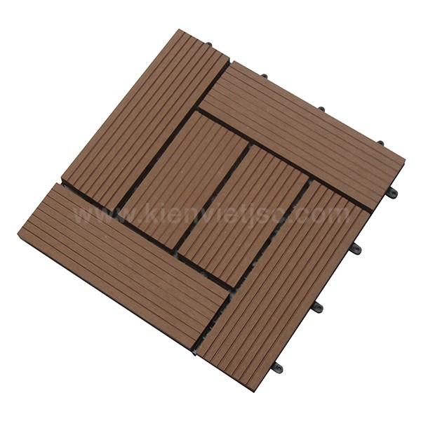 Vỉ gỗ nhựa ban công 30x30 Wood 6 nan