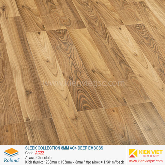 Sàn gỗ Robina architect collection AC22 Acacia Chocolate | 8mm