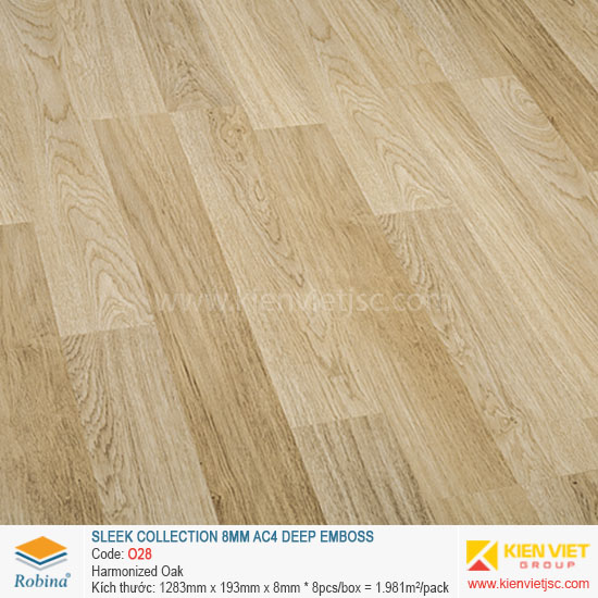 Sàn gỗ Robina architect collection O28 Harmonized Oak | 8mm