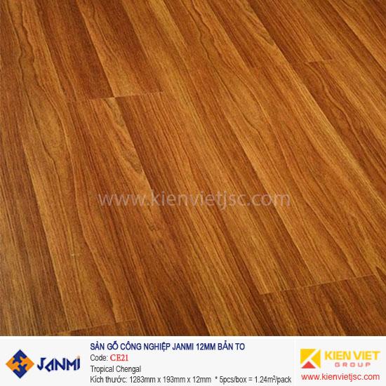 Sàn gỗ Janmi CE21 Tropical Chengal | 12mm bản to