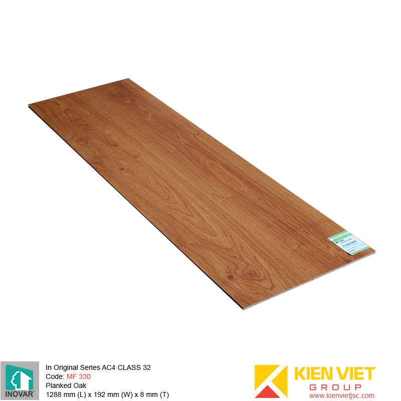 Sàn gỗ Inovar Original Series MF330 Planked Oak | 8mm