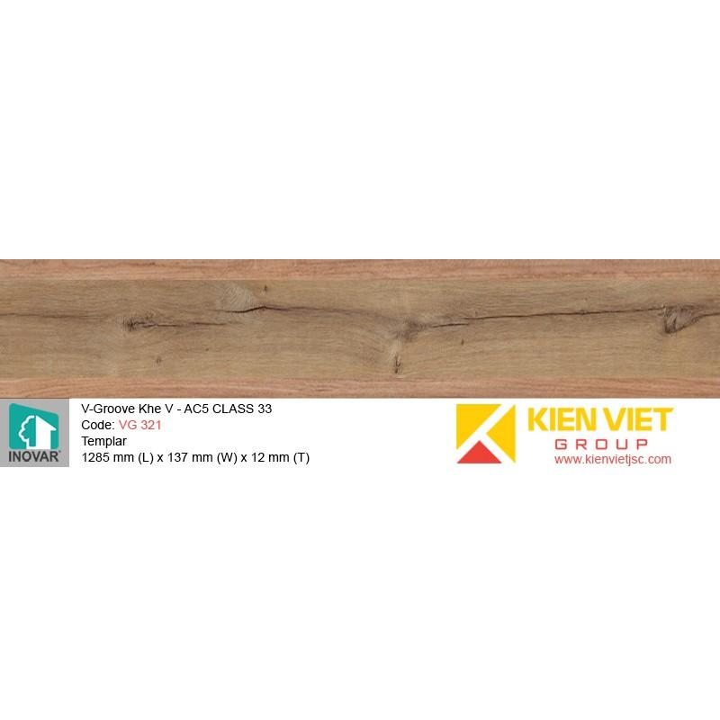 Sàn gỗ Inovar V-Groove VG321 Templar   12mm
