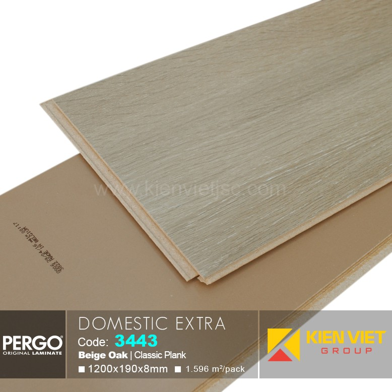 Sàn gỗ Pergo Domestic Extra 3443 | 8mm