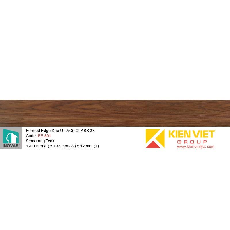 Sàn gỗ Inovar Formed Edge FE801 Semarang Teak   12mm