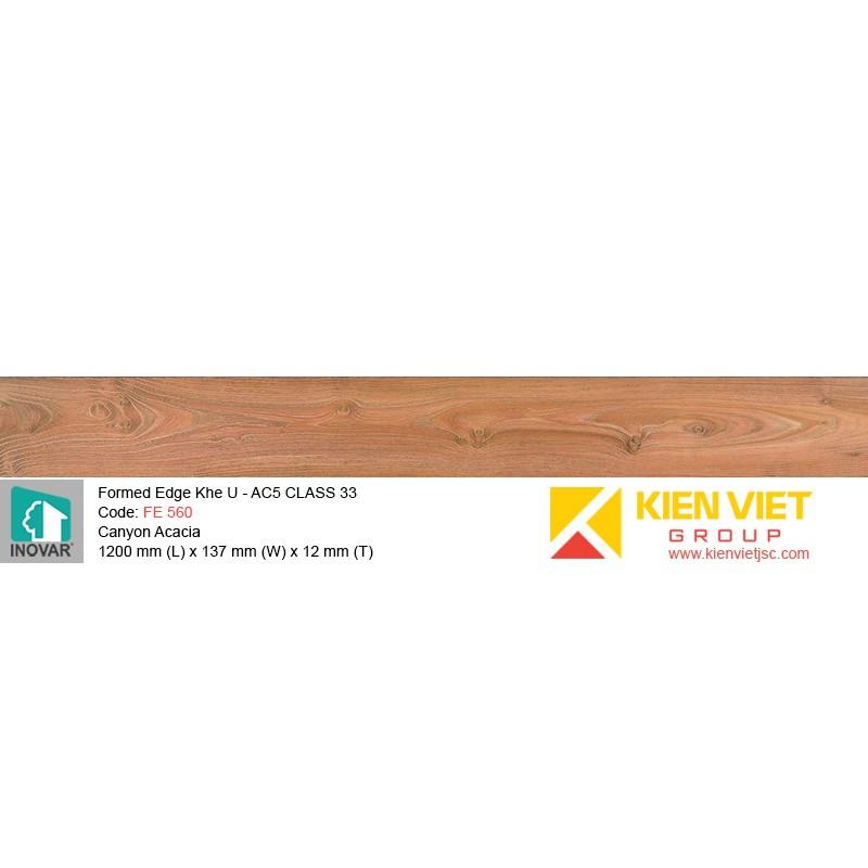 Sàn gỗ Inovar Formed Edge FE560 Canyon Acacia   12mm