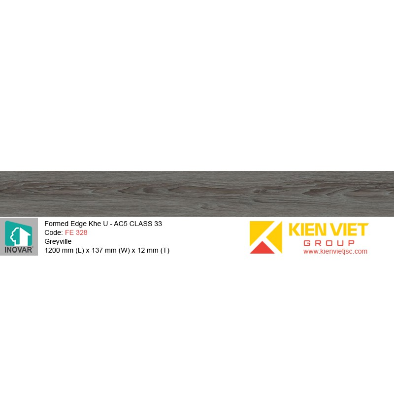 Sàn gỗ Inovar Formed Edge FE328 Greyville | 12mm