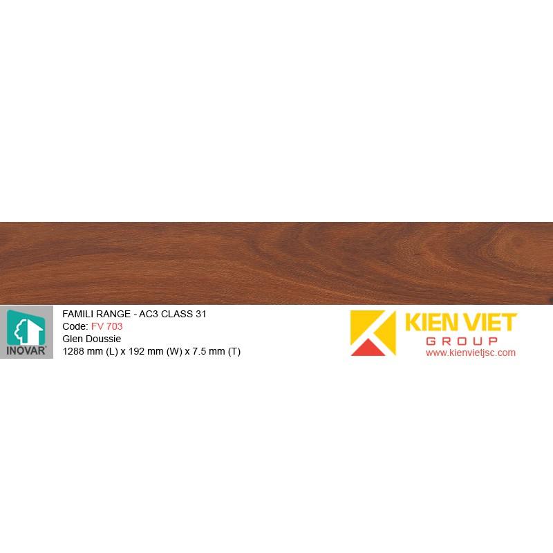 Sàn gỗ Inovar Famili Range FV703 Glen Doussie | 7.5mm