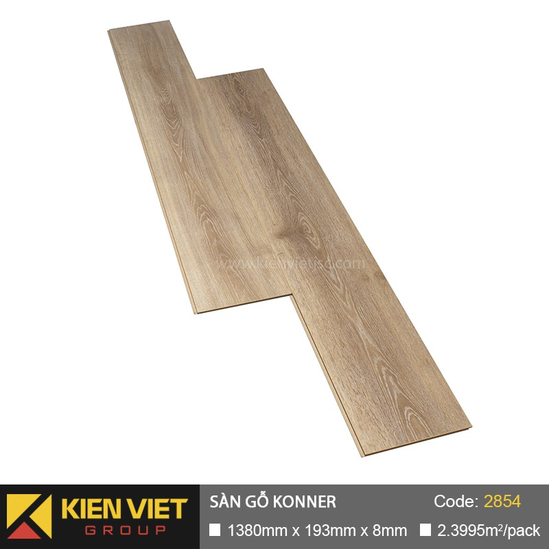 Sàn gỗ công nghiệp Đức Konner 2854 | 8mm