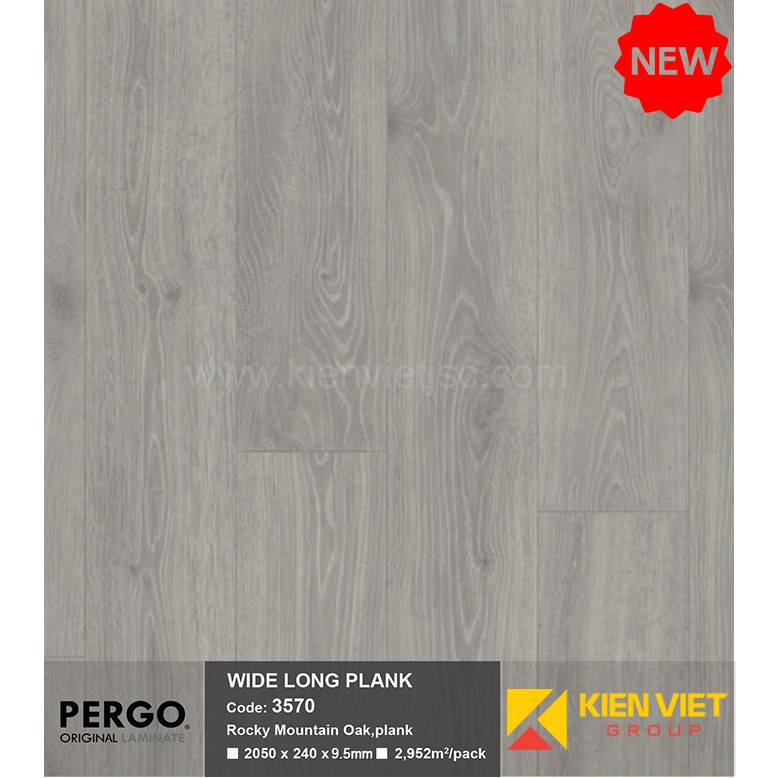 Sàn gỗ Pergo Wide Long Blank 3570 | 9.5mm