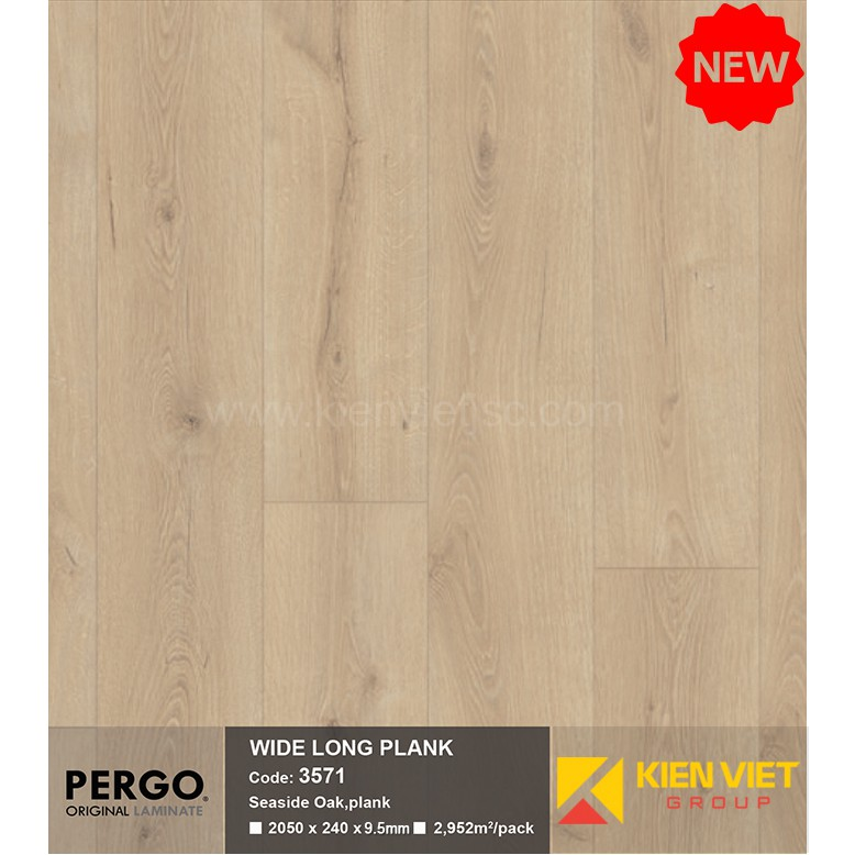 Sàn gỗ Pergo Wide Long Blank 3571 | 9.5mm