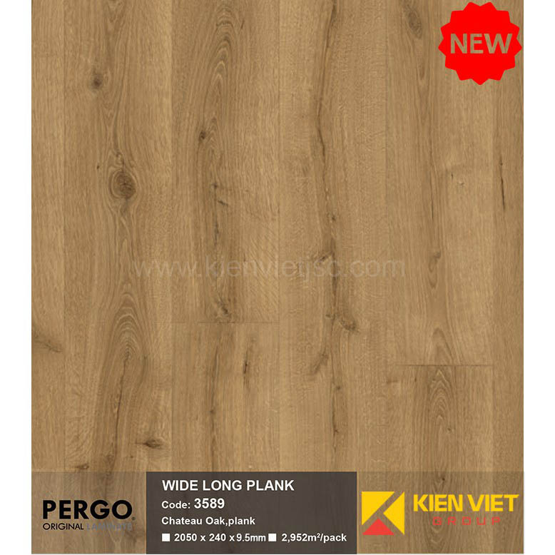 Sàn gỗ Pergo Wide Long Blank 3589 | 9.5mm