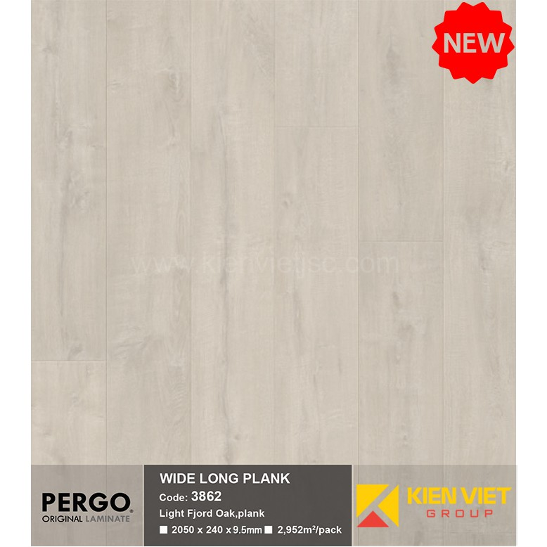 Sàn gỗ Pergo Wide Long Plank 3862 | 9.5mm