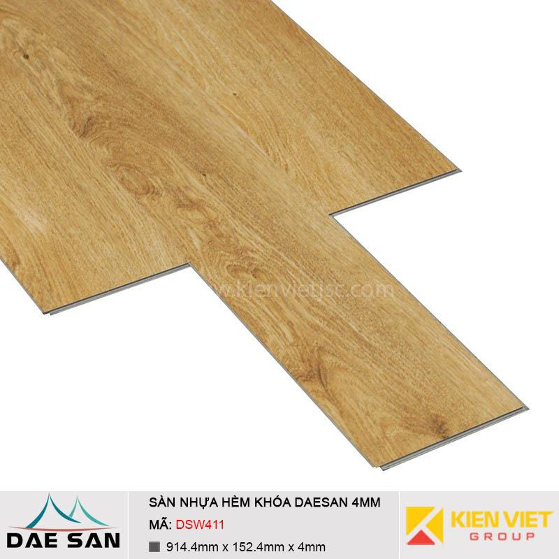 Sàn nhựa hèm khoá Daesan DSW411 | 4mm