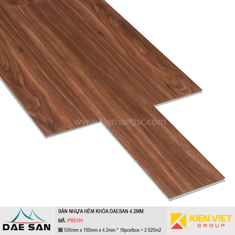 Sàn nhựa hèm khoá Daesan PR5191 | 4.2mm
