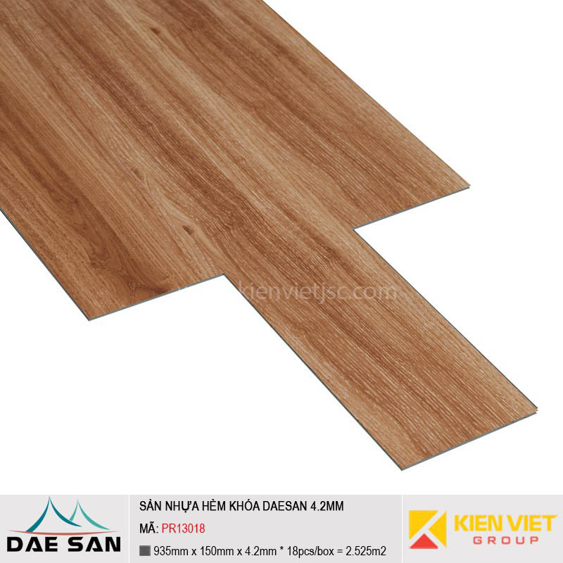 Sàn nhựa hèm khoá Daesan PR13018 | 4.2mm