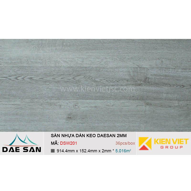 Sàn nhựa dán keo phủ sẵn DAESAN DSW201   2mm