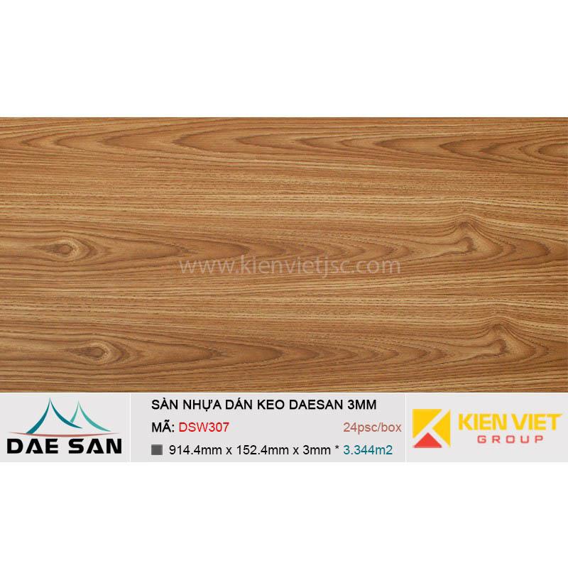 Sàn nhựa dán keo DAESAN DSW307 | 3mm