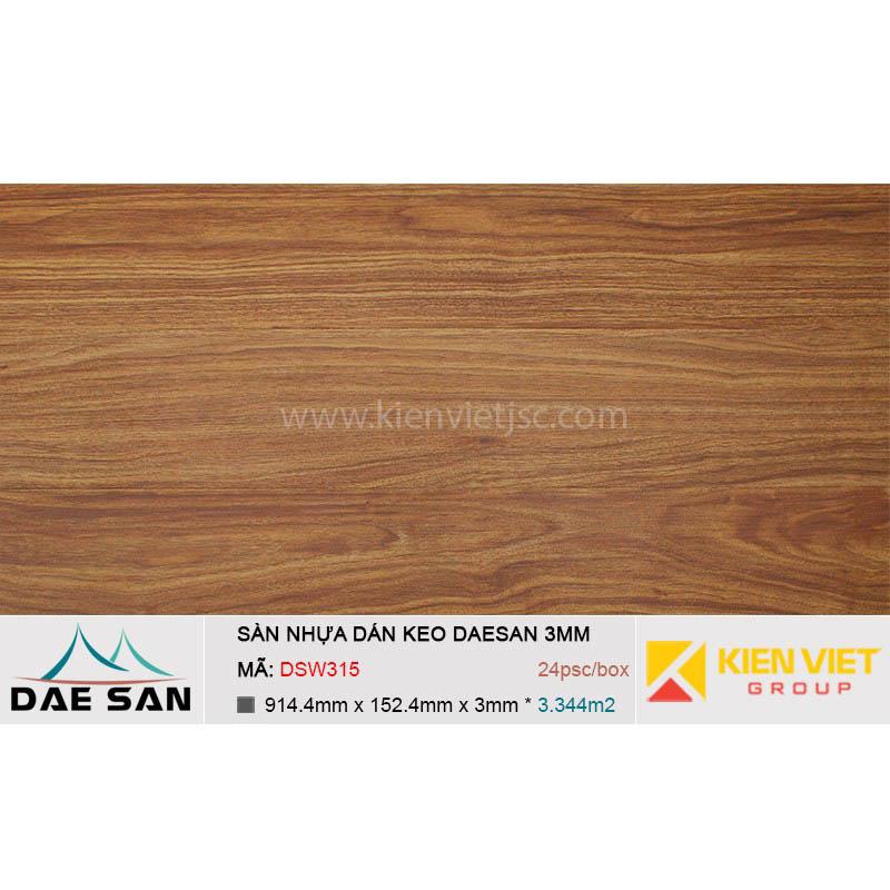 Sàn nhựa dán keo DAESAN DSW315 | 3mm