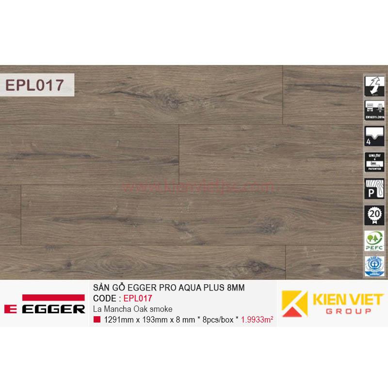 Sàn gỗ Egger Pro Aqua Plus EPL017 La Mancha Oak Smoke | 8mm