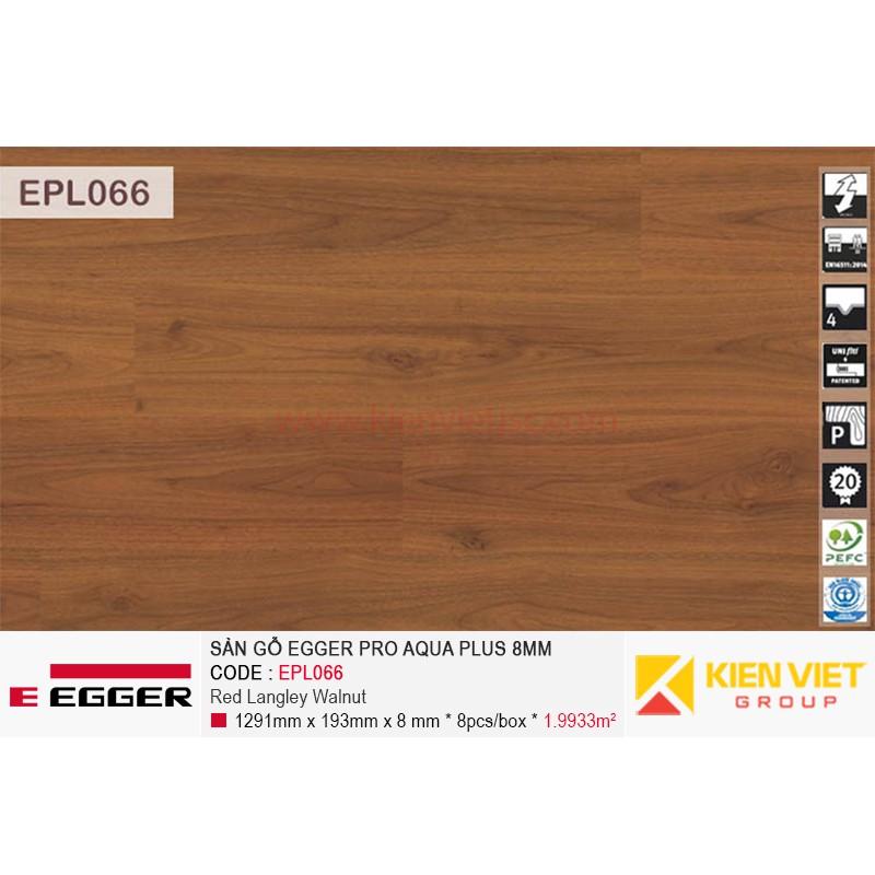 Sàn gỗ Egger Pro Aqua Plus EPL066 Red Langley Walnut | 8mm