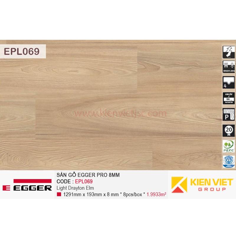 Sàn gỗ Egger Pro EPL069 Light Drayton Elm | 8mm