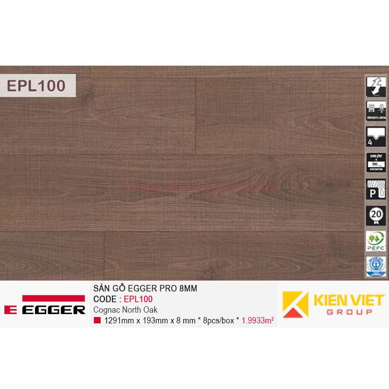 Sàn gỗ Egger Pro EPL100 Cognac North Oak | 8mm