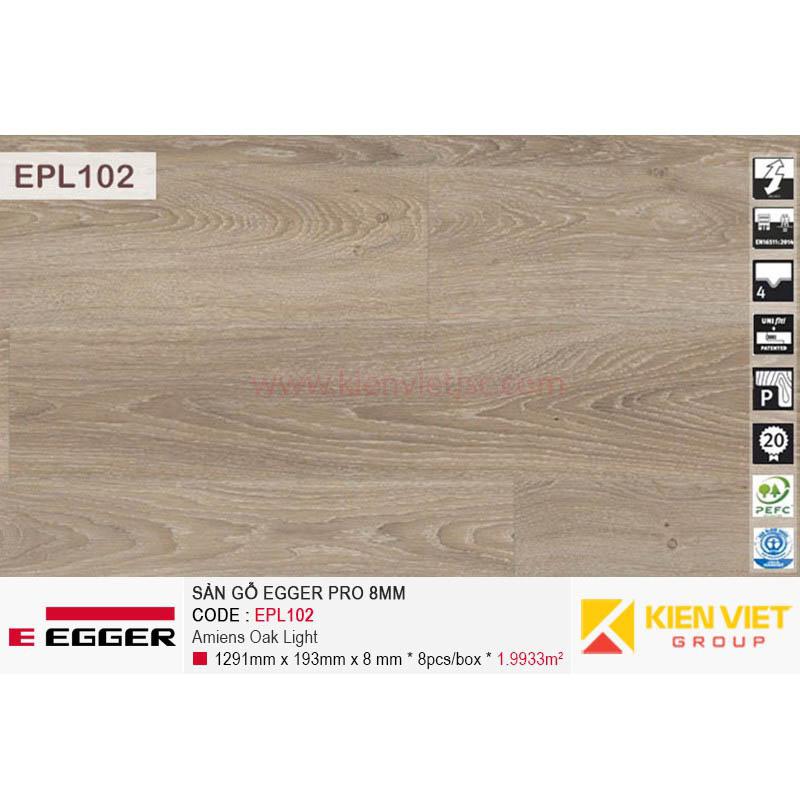 Sàn gỗ Egger Pro EPL102 Amiens Oak Light | 8mm