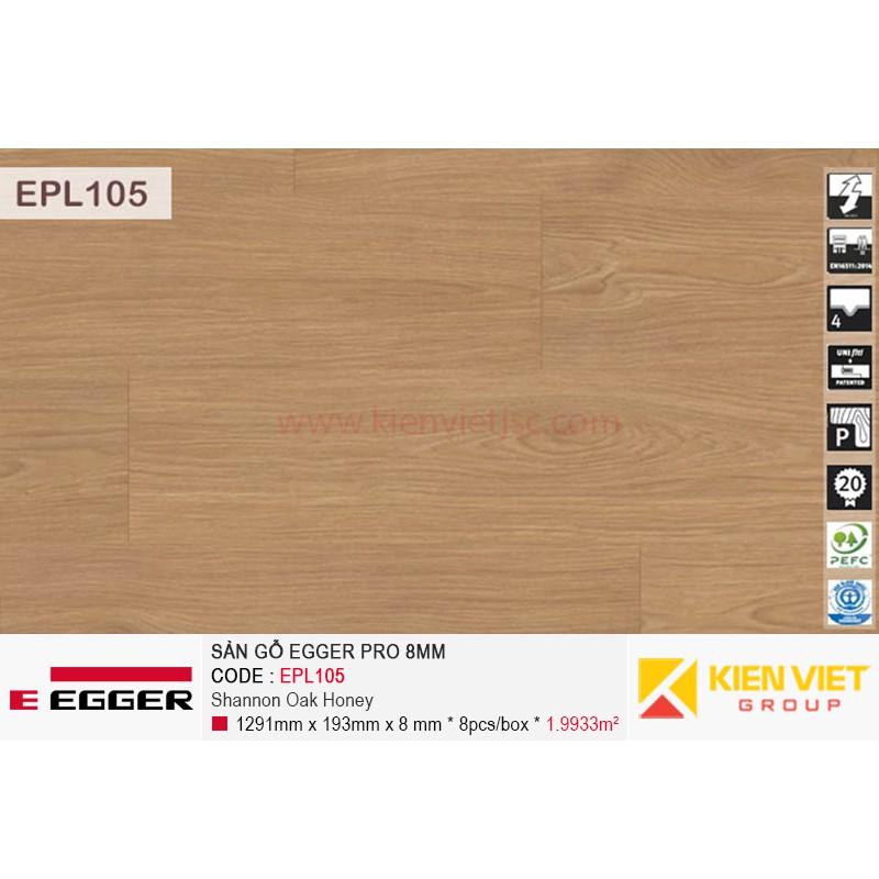 Sàn gỗ Egger Pro EPL105 Shannon Oak Honey | 8mm