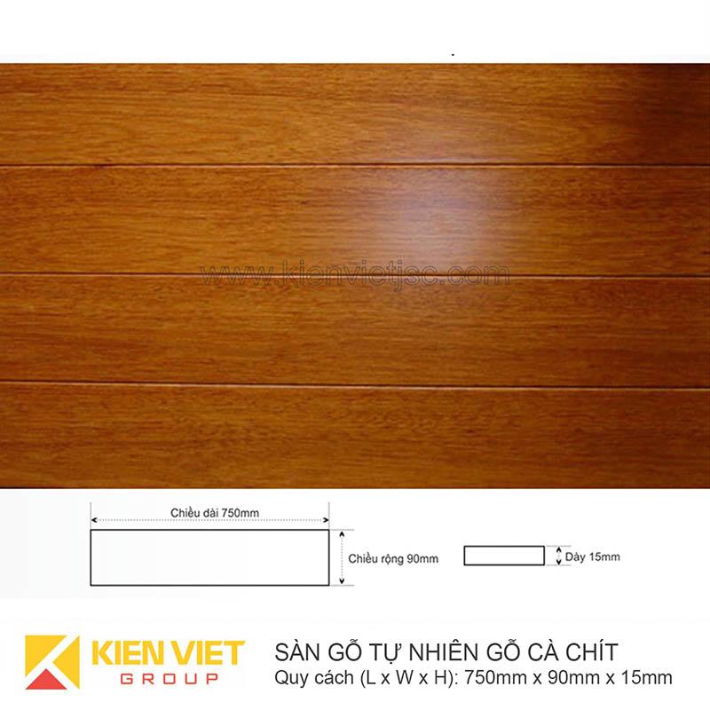 Sàn gỗ tự nhiên Cà chít 750x15mm