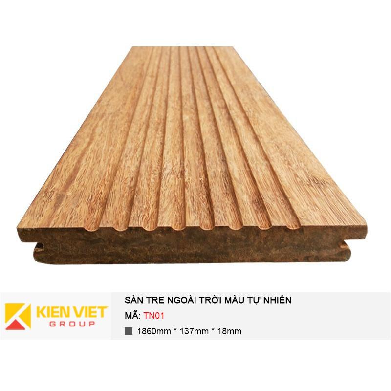 Sàn tre ngoài trời màu tự nhiên TN 01