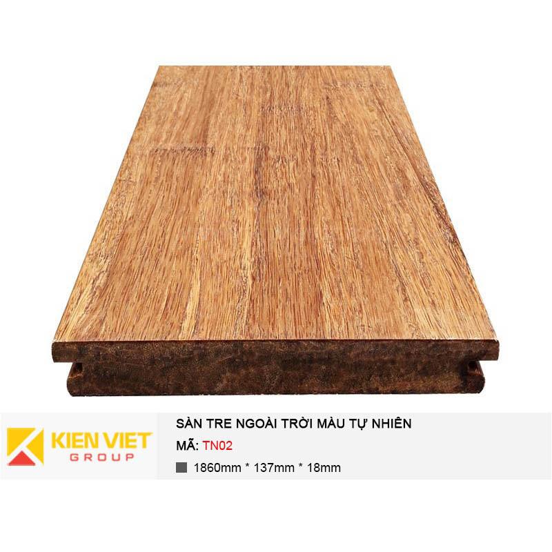 Sàn tre ngoài trời màu tự nhiên TN02