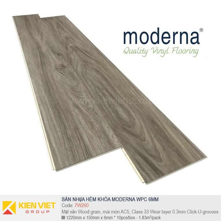 Sàn nhựa hèm khóa Moderna 7W260 | 6,5mm
