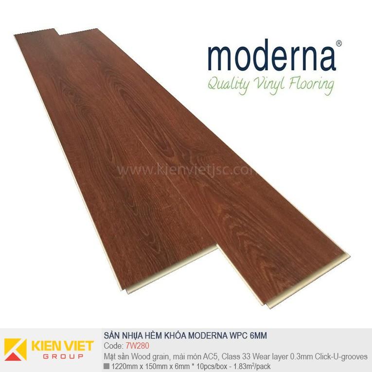 Sàn nhựa hèm khóa Moderna 7W280 | 6,5mm