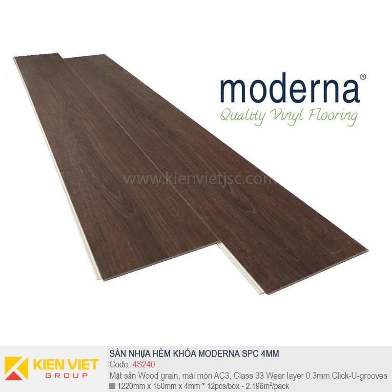 Sàn nhựa hèm khóa Moderna SPC 4S240 | 4mm