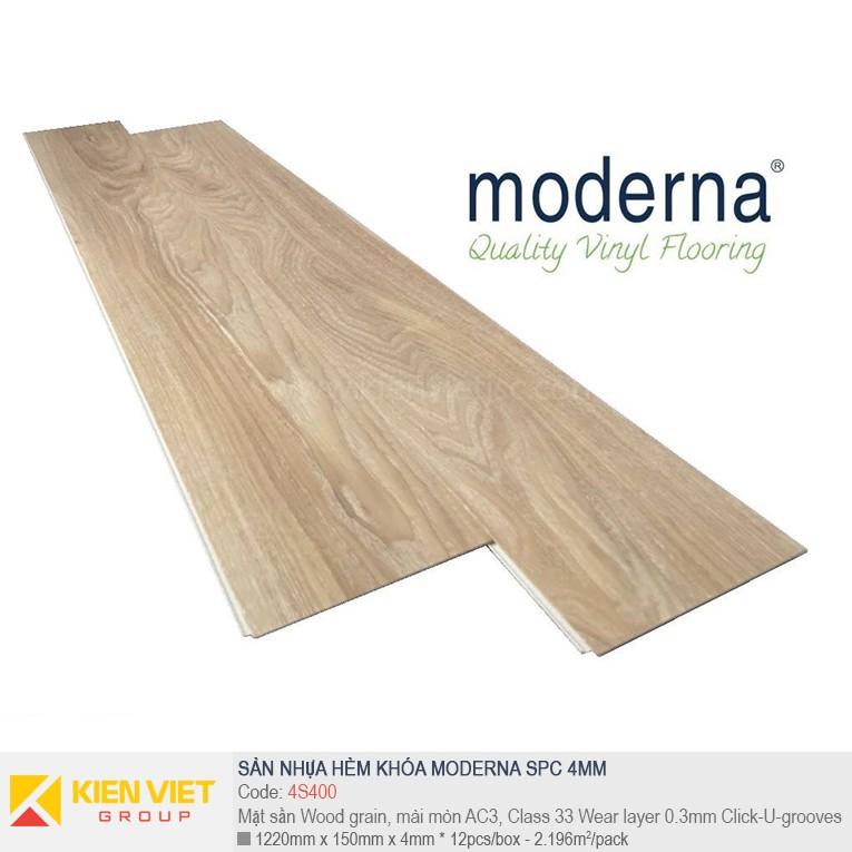 Sàn nhựa hèm khóa Moderna SPC 4S400 | 4mm